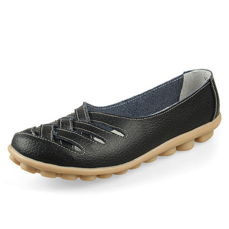 2017 Women shoes Genuine Leather flat with big size 34-44 oxford shoes