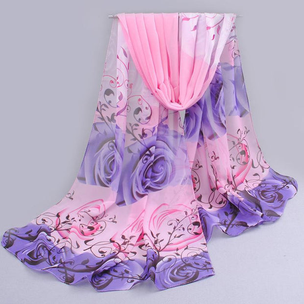 new 2017 cotton scarf han flowers roses and scarves Quality goods
