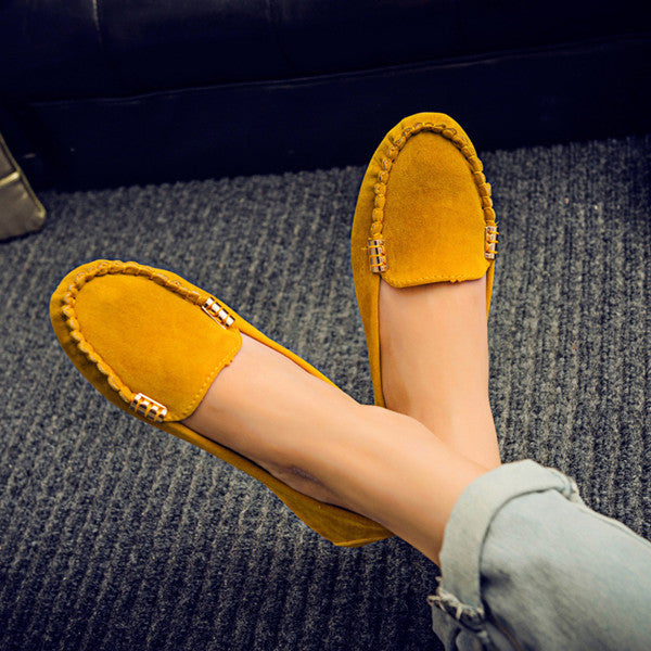 2017 spring summer  women casual shoes solid slip-on women flats