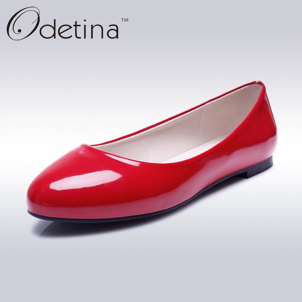 Odetina Fashion Ladies Summer Shoes Ballet Flats Women Flat Slip On