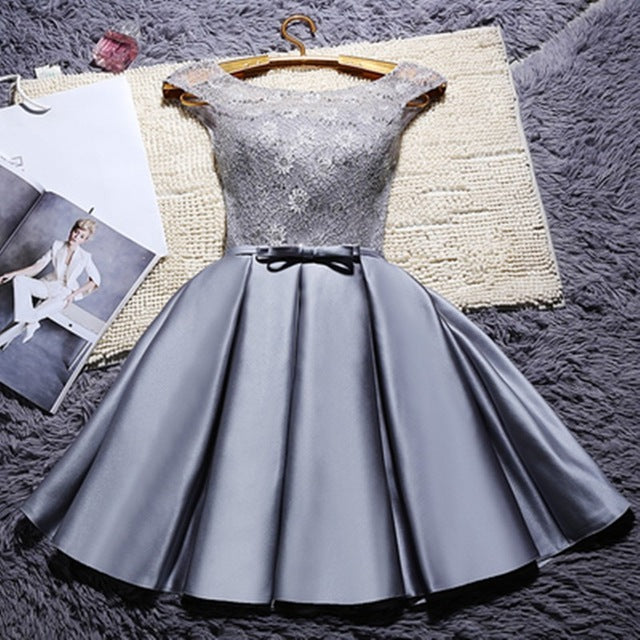 abule Short Wedding Bridesmaid Dresses  Multi-color lace customize