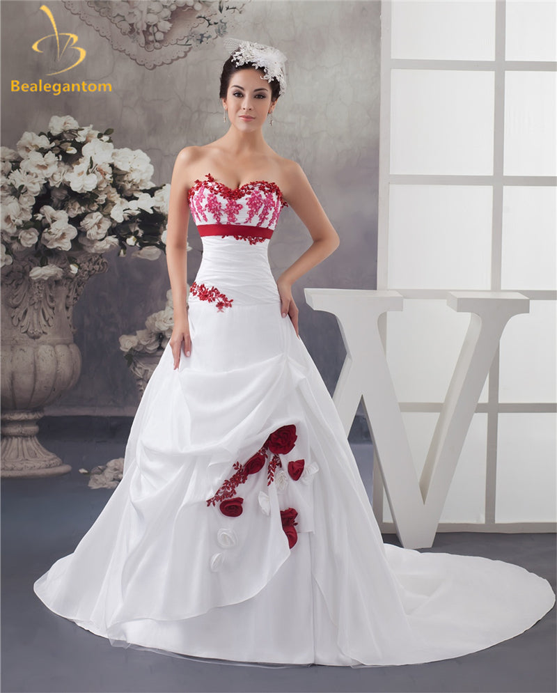 Bealegantom New Elegant Sweetheart Wedding Dresses 2017 Satin