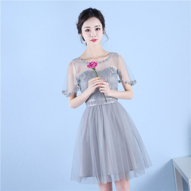 Beauty-Emily 2017 New Short Cheap Bridesmaid Dresses A-line