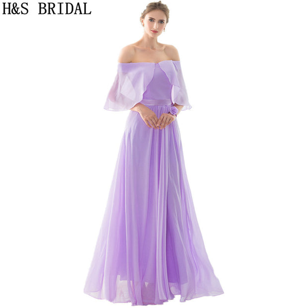 A-Line Cheap Chiffon Bridesmaid Dresses robe de soiree Empire 2017