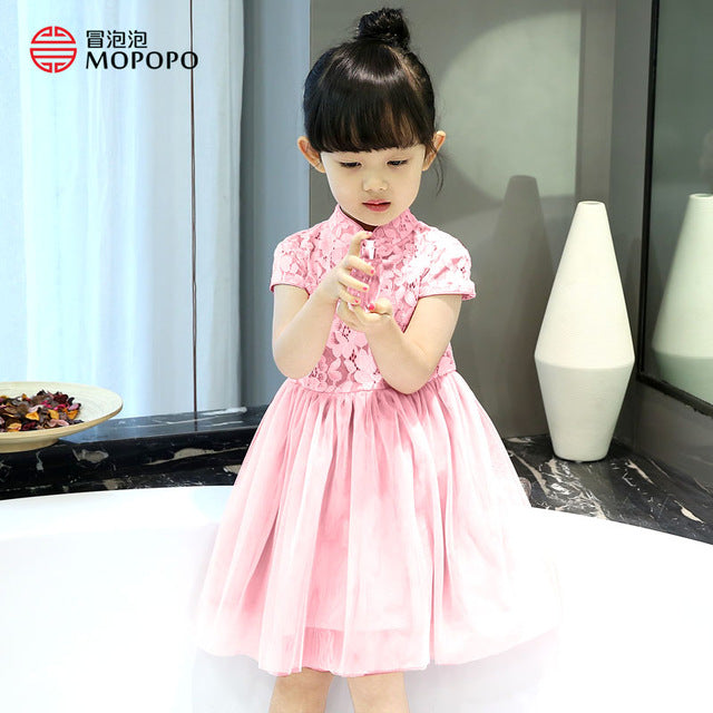 2017 Princess Tutu Dress Baby Girl Kids Summer Toddler Cute Lace