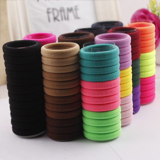 24 PCS Candy Colored Hair Holders High Quality Rubber Bands Hair