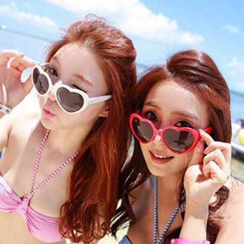Free Shipping New Summer  Love Heart Shaped Sunglasses Goggles Sun