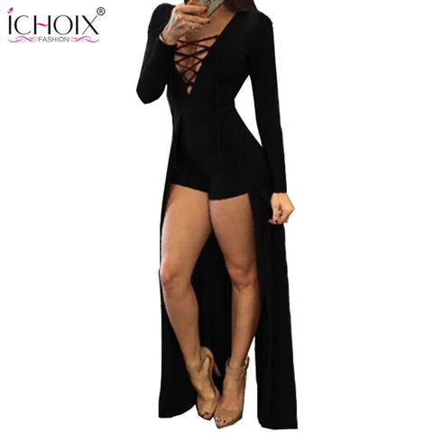 Women Clothing Sexy Dresses Red V-Neck Long Sleeve Slim Bodycon Bandage Dress Tight Party Dresses Black Woman Clothes 2017 - Monika's Dresses