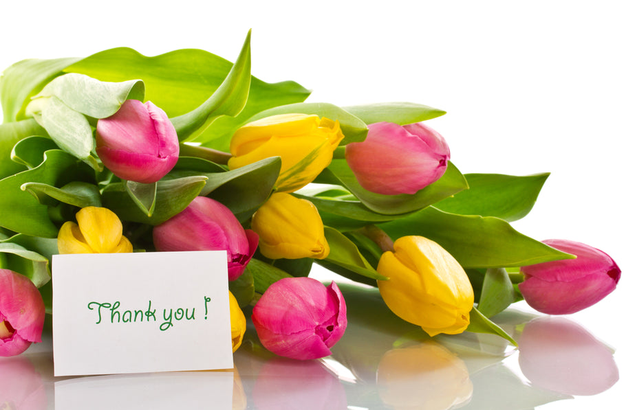 Saying 'Thank You' with Flowers