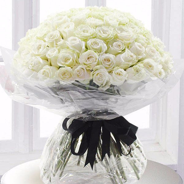 100 WHITE ROSES  - HEAD OVER HEELS