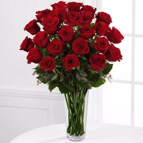 Nothing speaks of love so much as a bouquet of beautiful 24 long stem red roses. This bouquet is a gift to her heart from yours. Toronto Online Flower Delivery Service for Luxury Roses providing free delivery in the greater Toronto area for Birthdays, Anniversary, New baby, Weddings, Mother's Day and Valentines day