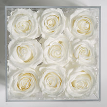 9 WHITE EVERLASTING ROSES