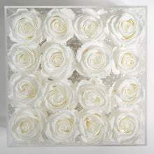 16 WHITE EVERLASTING ROSES