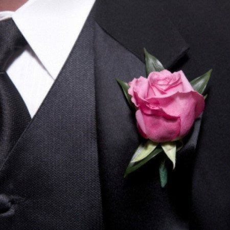 Classic Pink Rose Boutonniere