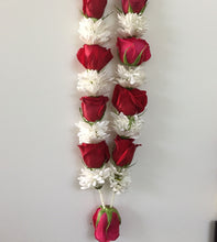 Garland: Roses & Carnations (Red & White)
