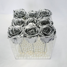 9 SILVER EVERLASTING ROSES - SOLD OUT