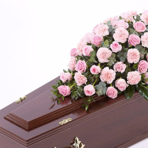 Casket Spray: Roses & Carnations (Pink)