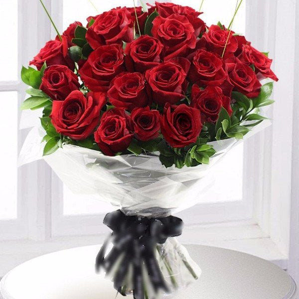 These fifty gorgeous Red Roses are the absolute essence of a grand romantic gesture. This exquisite display is the perfect way to send your love to someone special. Toronto Online Flower Delivery Service for Luxury Roses providing free delivery in the greater Toronto area for Birthdays, Anniversary, New baby, Weddings, Mother's Day and Valentines day
