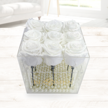 SAME DAY DELIVERY: 9 EVERLASTING WHITE ROSES