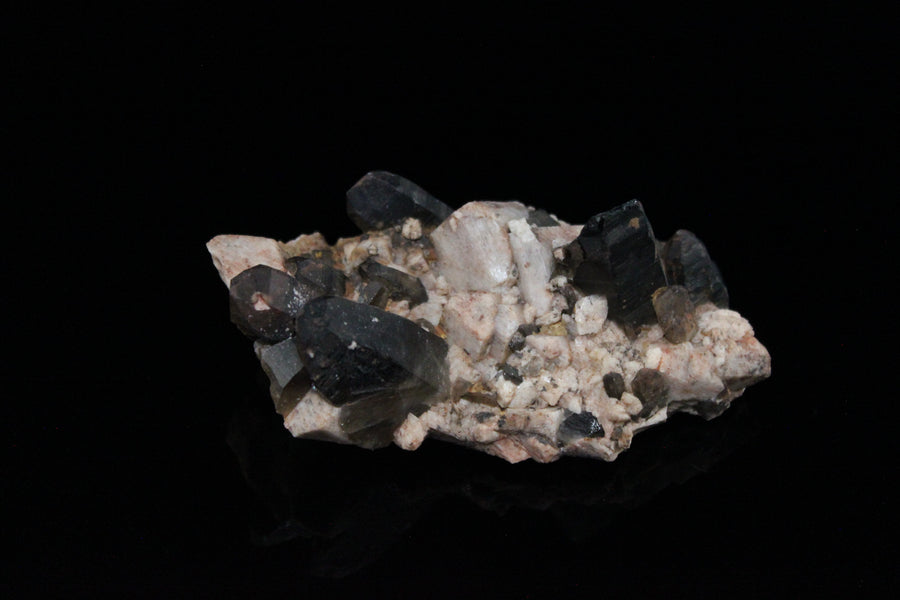 Smoky Quartz on Microcline