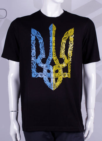 Cotton t-shirt with Ukrainian symbolic