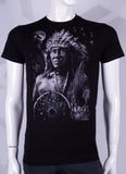 Cotton t-shirt with amerindien design