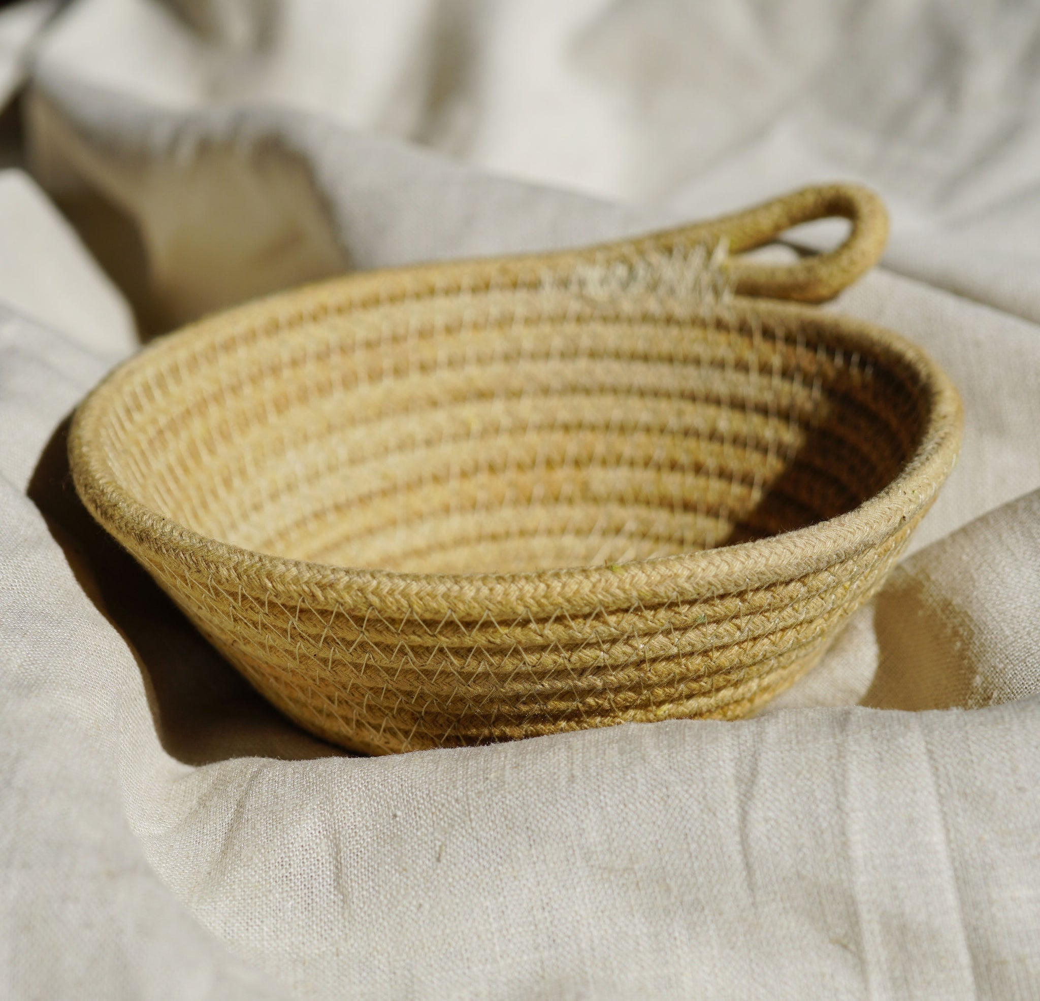 Mini Rope Bowl- Wheat