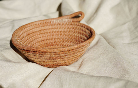 Mini Rope Bowl-Rose Clay