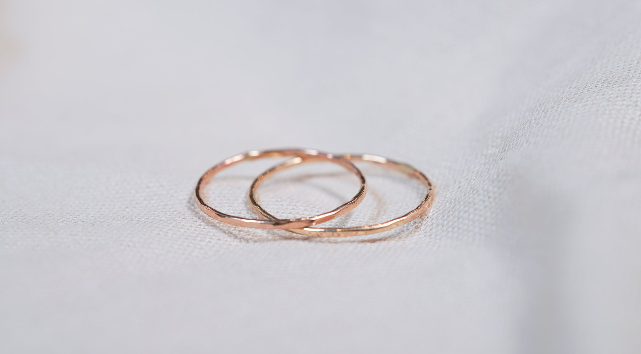 The Whisper Thin Hammered Ring