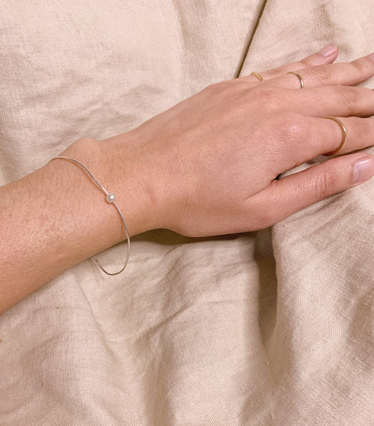 Whisper thin pearl bangle