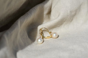 The Pearl And Diamond Earring