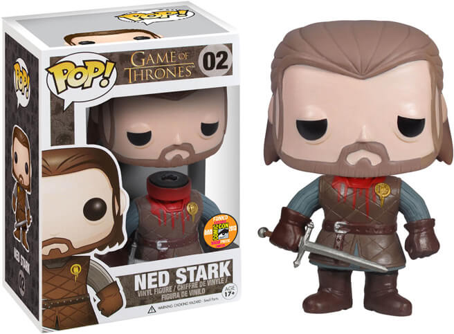 Funko POP Ned Stark Sin Cabeza SDCC Funatic Store Blog