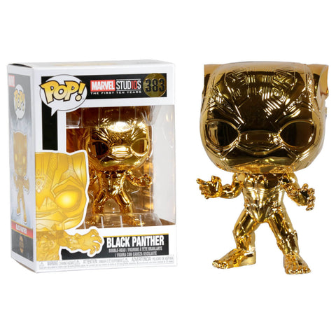 Funko POP Black Panther Dorado 383 Marvel Funatic Store Colombia