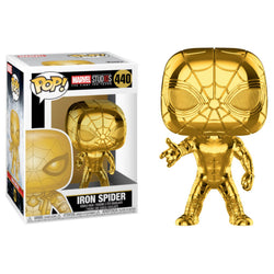 Funko POP Iron Spider Dorado 440 Aniversario Marvel Funatic Store Colombia