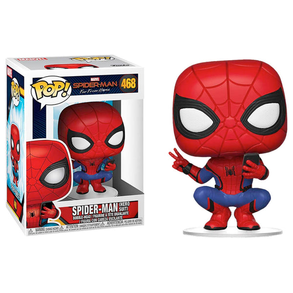 Funko POP Spiderman Hero Suit 468 Far From Home Marvel Funatic Store Colombia