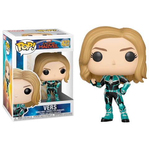 Funko POP Vers 427 Capitana Marvel Funatic Store Colombia