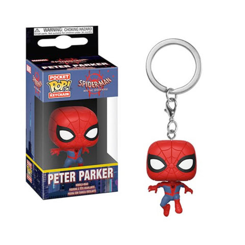 Llavero Funko POP Peter Parker Spiderman Into Spiderverse Funatic Store Colombia