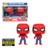 Funko POP Spider-Man vs Spider-Man 2 Pack Exclusive Marvel Funatic Store Colombia