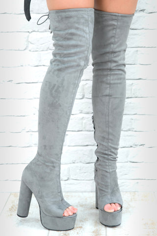 FAVOURITE THINGS BOOTS - GREY SUEDE