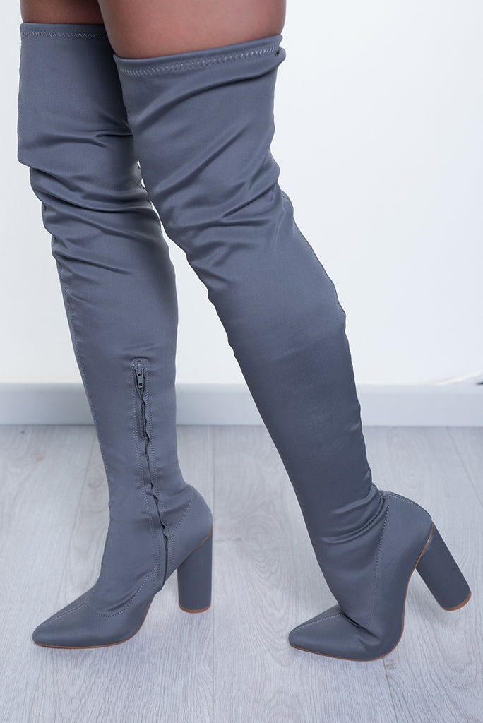 KNOCK OUT THIGH HIGH - GREY