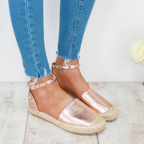 HAPPY DAYS ESPADRILLE - ROSE GOLD