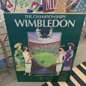 Poster on Board - Wimbledon Ladies Tennis