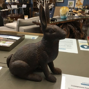 Large Cast Iron Rabbit