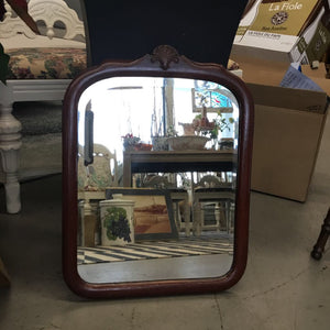 Antique Mirror w Wood Carved Frame