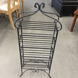 Wrought Iron Black Shelf w Legs