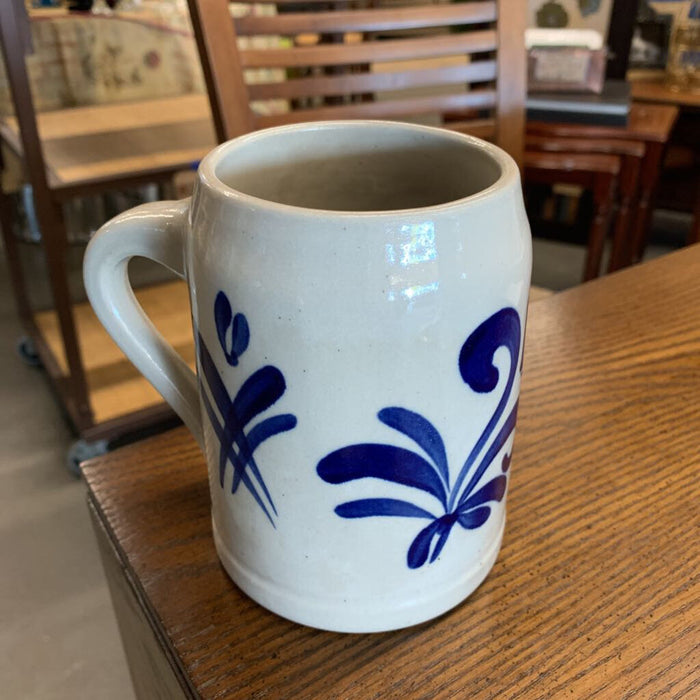 Dutch Mug - Grey w Blue Accent