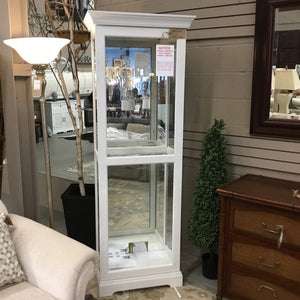 Lighted Curio Cabinet w Sliding Door