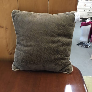 Brown Chenille With Circles Cushion