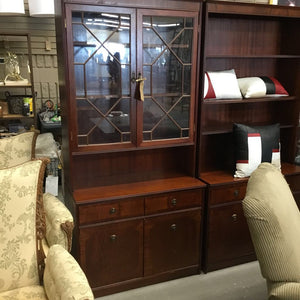 Beresford & Hicks Cabinet With Upper Glass Doors And Cabinets Below