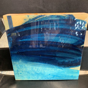 Cool Blue - Oil w Epoxy Overlay by Frank Caracciolo NY